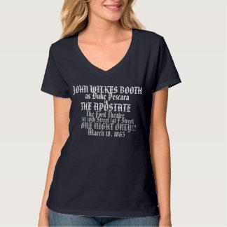 DE V-HALS VAN JOHN WILKES BOOTH HANES VAN VROUWEN SHIRTS