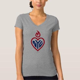 De v-Hals van NYC Bella Jersey - Hart Gotham - New T Shirt