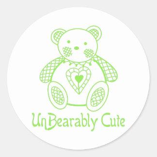 De V.N. Leuke Bearably Ronde Sticker