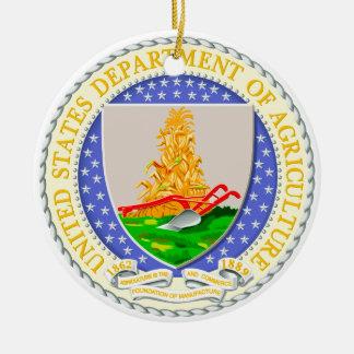 De V.S. Afd. van de Verbinding van de Landbouw Rond Keramisch Ornament