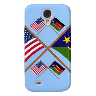 De V S en Zuidelijke de Soedan Gekruiste Vlaggen