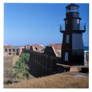 De V.S., FL, de Sleutels van Florida, Fort Jeffers Keramisch Tegeltje