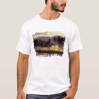 De V.S., Hawaï, Groot Eiland, Paar, palmen T Shirt