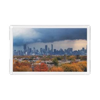 De V.S., Illinois, Chicago, cityscape Acryl Dienblad