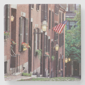 De V.S., Massachusetts, Boston, Huizen langs Eikel Stenen Onderzetter