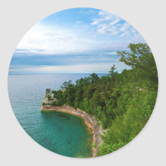 De V.S., Michigan. Vorming 3 van Castle Rock van Ronde Sticker