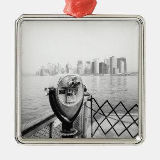 DE V.S., NEW YORK: De Schilderachtig Kijker van de Zilverkleurig Vierkant Ornament