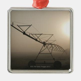 De V.S., Oregon, Marion County, Irrigatie en mist Zilverkleurig Vierkant Ornament