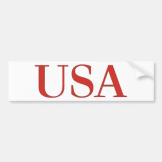 De V.S. - Patriottische Nationaal van de Verenigde Bumpersticker