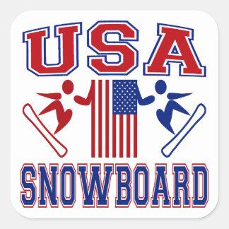 De V.S. Snowboard Vierkante Sticker