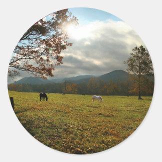 De V.S., Tennessee. Paarden in de Vallei van de Ronde Sticker