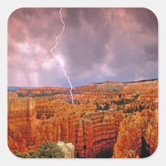 De V.S., Utah, het Nationale Park van de Canion Vierkante Sticker