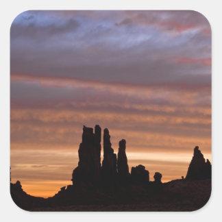 De V.S., Utah, het Nationale Park van de Vallei Vierkante Sticker