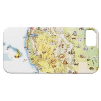 De V.S., westerne staten van Amerika, kaart Barely There iPhone 5 Hoesje