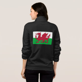 De Vacht Jogger van vrouwen met vlag van Wales Fleece Jas