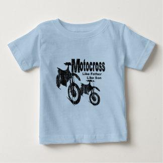 De Vader/de Zoon van de motocross Baby T Shirts