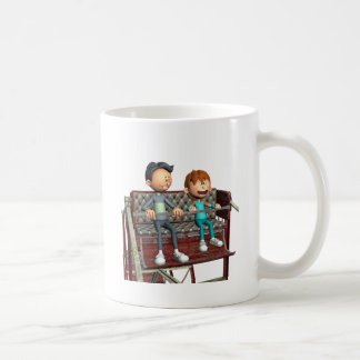 De Vader en de Zoon van de cartoon op een Koffiemok