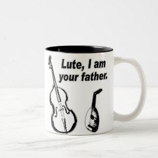 De Vader van de luit Tweekleurige Koffiemok