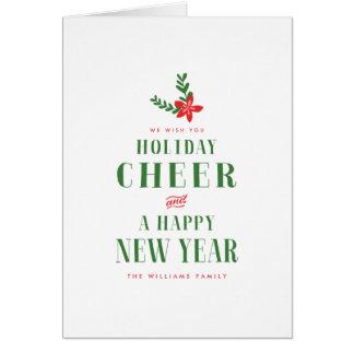 De vakantie juicht Kerstmis toe Briefkaarten 0