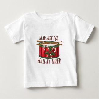 De vakantie juicht toe baby t shirts