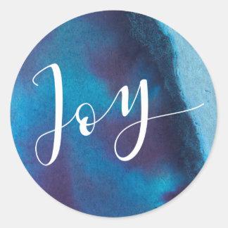 De Vakantie van de Vreugde van lapis lazuli Ronde Sticker