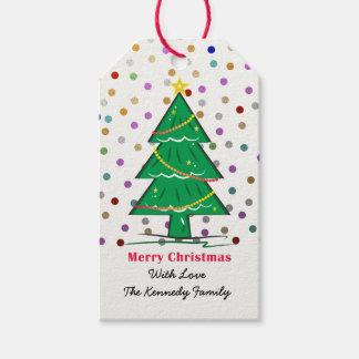 De Vakantie van Kerstmis van het Stip van de Cadeaulabel