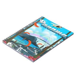 De vakantiedruk van de Rivier van Panama Ringband Notitieboek