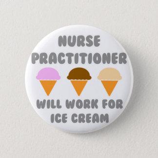 De Vakman van de verpleegster zal… voor Roomijs Ronde Button 5,7 Cm