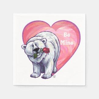 De Valentijnsdag van de Ijsbeer Wegwerp Servetten