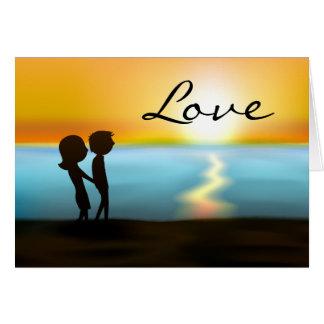 De Valentijnsdag van de Liefde van het Paar van Kaart
