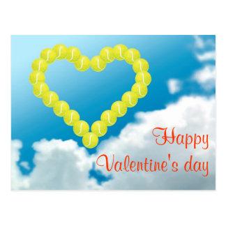 De Valentijnsdag van het Hart van het tennis Briefkaart