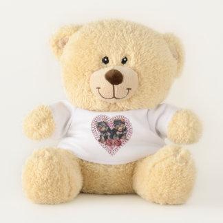 De Valentijnsdag van Yorkshire Terrier Knuffelbeer
