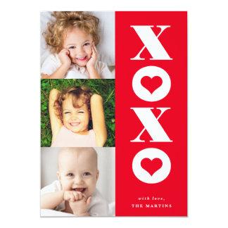 de Valentijnsdagkaart van de xoxo multi-foto 12,7x17,8 Uitnodiging Kaart