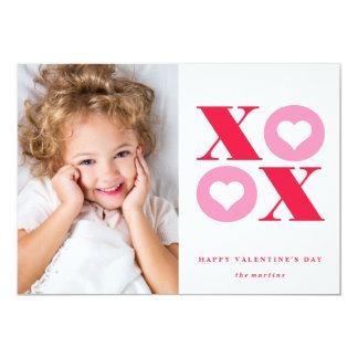 de Valentijnsdagkaart van de xoxofoto 12,7x17,8 Uitnodiging Kaart