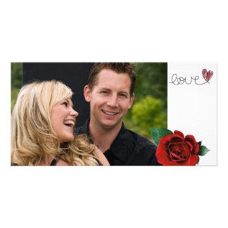 De Valentijnse Kaart van de Foto van de Liefde Foto Kaart