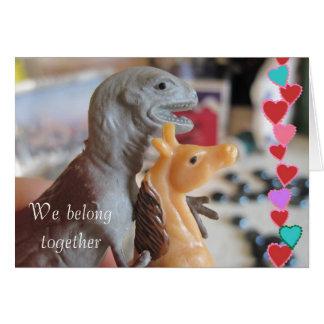 De Valentijnskaart van het Pony van de Liefdes van Wenskaart