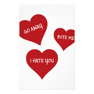 De Valentijnskaarten van de haat Briefpapier