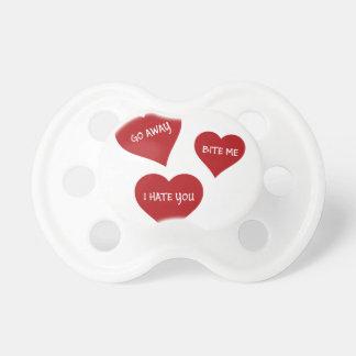 De Valentijnskaarten van de haat Fopspenen
