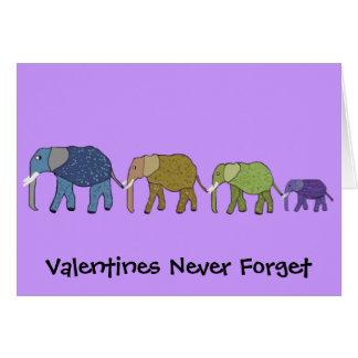 De valentijnskaarten vergeten nooit Kaart