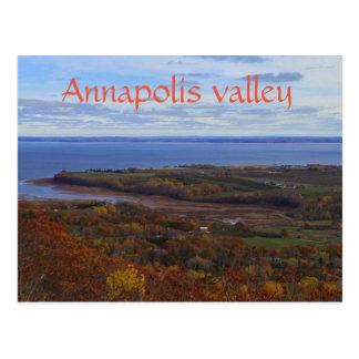 De Vallei van Annapolis in het briefkaart van Nova