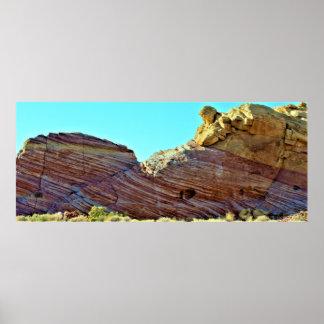De Vallei van de Vormingen van de rots van Brand Poster