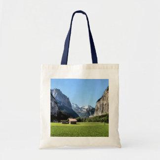 De vallei van Lauterbrunnen, regionvalley Jungfrau Budget Draagtas