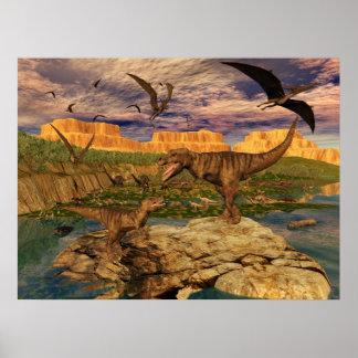 De valleiposter van de dinosaurus poster