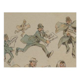 De valse Illustratie van het Briefkaart van het