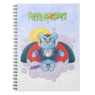 De vampier van de teddybeer ringband notitieboek