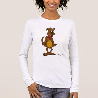 De van een hond T-shirt van het lang-Sleeve van