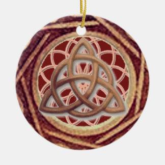 De Vanger Triquetra van de droom Rond Keramisch Ornament