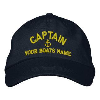 De varende kapiteins van de douane geborduurde pet