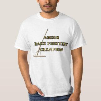 De Vechtende Kampioen van de Hark van Amish T Shirt
