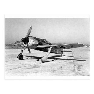De Vechter van Wulf Fw190 van Focke, op het Tarmac Briefkaart
